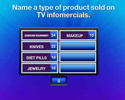 Name a type of product sold on tv infomercials family feud guide family - Television but solde ...