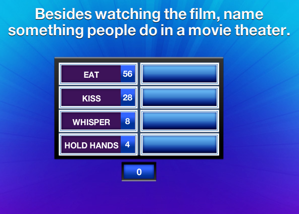 Besides watching the film name something people do in a movie theater