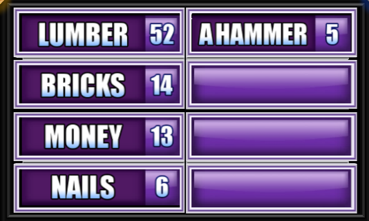 Name Something You Need To Build A House. - Family Feud Guide : Family Feud  Guide