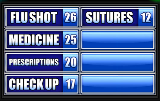 Name Something A Doctor Might Give You. - Family Feud Guide ...